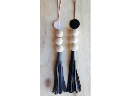 Leather and Bead Tassel