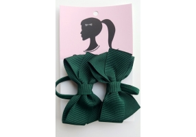 School Bow Hair Ties Set of 2