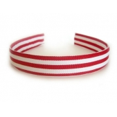 25mm Headband  Red Stripe