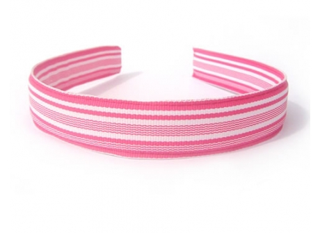 25mm Headband  Hot Pink Waves