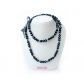 Knotted Mini Bead Necklace Navy